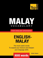 Malay vocabulary for English speakers: 9000 words