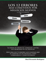 Los 12 Errores Más Cometidos Por Negocios (y cómo evitarlos)