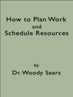 How To Plan Work and Schedule Resources