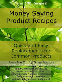 Money Saving Product Recipes