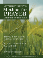 Matthew Henry's Method for Prayer (NIV 1st Person Version)