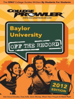 Baylor University 2012