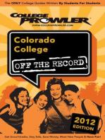 Colorado College 2012