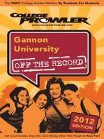 Gannon University 2012