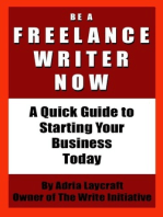 Be a Freelance Writer Now