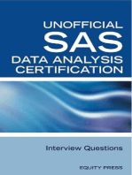 SAS Statistics Data Analysis Certification Questions