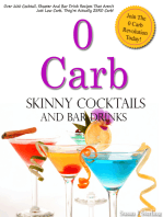 0 Carb Skinny Cocktails and Bar Drinks