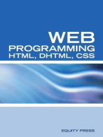 Web Programming Interview Questions with HTML, DHTML, and CSS