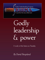 Godly Leadership & Power