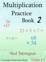 Multiplication Practice Book 2, Grades 4-5
