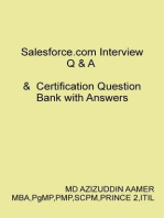 Salesforce.com Interview Q & A & Certification Question Bank with Answers