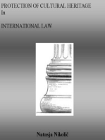 Protection of Cultural Heritage in International Law