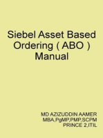 Siebel Asset Based Ordering ( ABO )