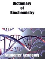Dictionary of Biochemistry