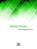 Italian Verbs (100 Conjugated Verbs)