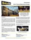 SolarWall Case Study - City of Toronto Garages (solar air heater system)