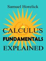 Calculus Fundamentals Explained