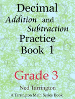 Decimal Addition and Subtraction Practice Book 1, Grade 3