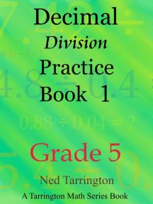 Decimal Division Practice Book 1, Grade 5