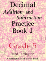 Decimal Addition and Subtraction Practice Book 1, Grade 5