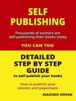 Self-publishing / Detailed Step by Step Guide to Self-publish your Books