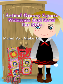Animal Granny Square Waistcoat And Scarf For Kids