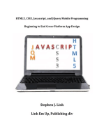HTML5,CSS3,Javascript and JQuery Mobile Programming