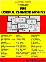 Mandarin Chinese The Right Way! 888 Useful Chinese Nouns