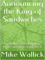 Announcing the King of Sandwiches!