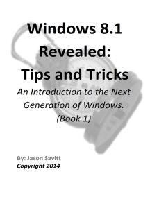 Windows 8.1 Revealed: Tips and Tricks