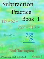Subtraction Practice Book 1, Grade 3