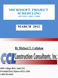 Microsoft Project Scheduling