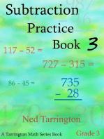 Subtraction Practice Book 3, Grade 3