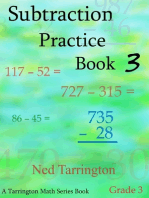 Subtraction Practice Book 3, Grade 3