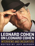 Leonard Cohen on Leonard Cohen: Interviews and Encounters