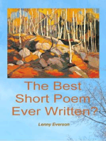 The Best Short Poem Ever Written?