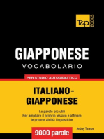 Vocabolario Italiano-Giapponese per studio autodidattico