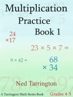 Multiplication Practice Book 1, Grades 4-5