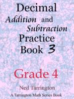 Decimal Addition and Subtraction Practice Book 3, Grade 4