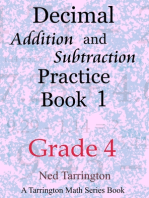Decimal Addition and Subtraction Practice Book 1, Grade 4