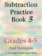 Subtraction Practice Book 3, Grades 4-5