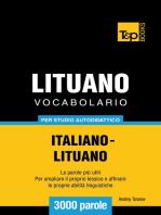 Vocabolario Italiano-Lituano per studio autodidattico