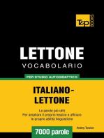 Vocabolario Italiano-Lettone per studio autodidattico