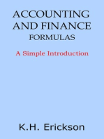 Accounting and Finance Formulas