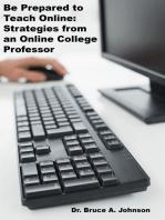 Be Prepared to Teach Online