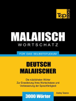 Deutsch-Malaiischer Wortschatz für das Selbststudium: 3000 Wörter