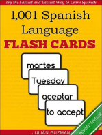 1,001+ Spanish Language Flash Cards: The Fastest Way to Get Started in Spanish