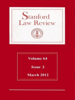 Stanford Law Review: Volume 64, Issue 3 - March 2012