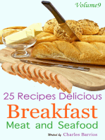 25 Recipes Delicious Breakfast Meat and Seafood Volume 9