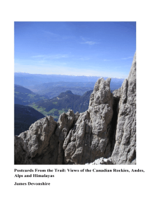 Postcards from the Trail:Views of the Canadian Rockies, Andes, Alps and Himalayas